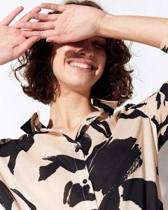 Camisa overzise print fleur