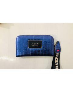 Billetera de cuero azul electrico